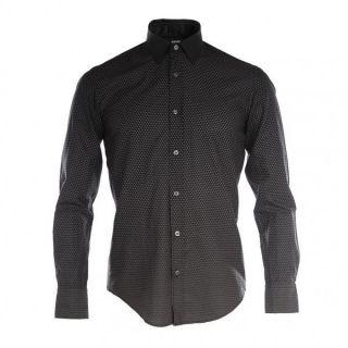 Hugo Boss Black Mens Black Ronny 12 Patterned Shirt New
