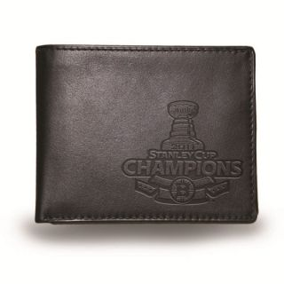 Boston Bruins NHL 2011 Stanley Cup Black Leather Wallet