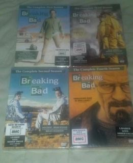 Breaking Bad The Complete Season 1 4 DVD Set Seasons 1 2 3 4 Brand new