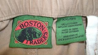 Boston Traders Khaki Shorts Cargo Male Clothing Solid Mens Size XXL