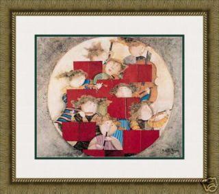 Rodo Boulanger Opus I Lithograph Custom Framed Art
