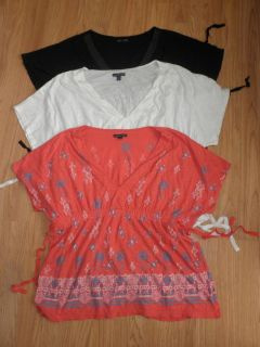 Set of 3 American Eagle Outfitters Tops Size XXL 2XL Plus Womens Black