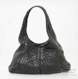BOTTEGA VENETA Black Intrecciato Nappa Leather Hobo Bag