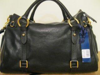 Dooney Bourke D B Large Florentine Satchel Black Bag Purse Tote 398