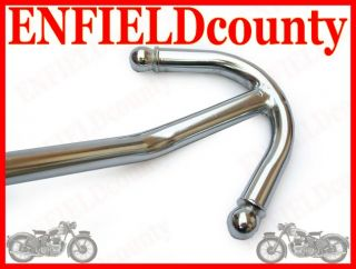 ROYAL ENFIELD SOLID HEAVY ANCHOR STYLE FRONT CHROME CRASHBAR LEG GUARD