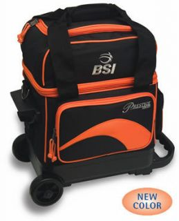 BSI Orange Black 1 Ball Roller Bowling Bag