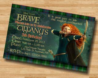Brave Merida Personalized Digital OR Prints Birthday Party Invitation