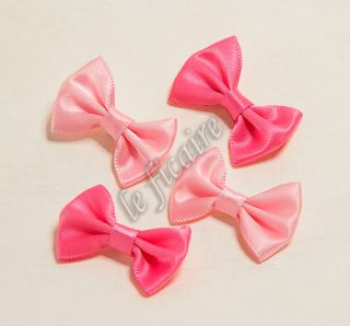 satin ribbon bow ties applqiues x 40 mix