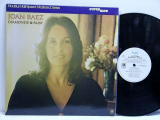Joan Baez Diamonds Rust LP Nautilus Half Speed Superdisc Near Mint