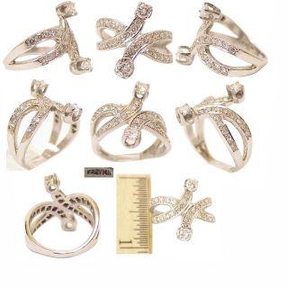 Swirling Retro 14k White Gold Diamond Ring 1 0 Ct TW