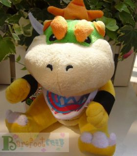 Arrival Super Mario Bros Kids Bowser Jr 7 Funny Plush Toy Doll