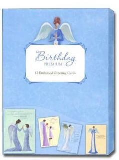 Tranquil Angels Boxed Birthday Cards 12 Greeting Cards