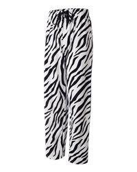White Zebra Stripe Unisex Men Women Boxercraft Pajamas s 2XL