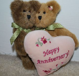 TBC Boyds Bears Teddy Bear Happy Anniversary Retired