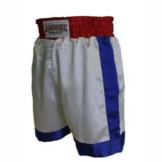 Boxing Trunks Shorts Amber New Pro Style Satin