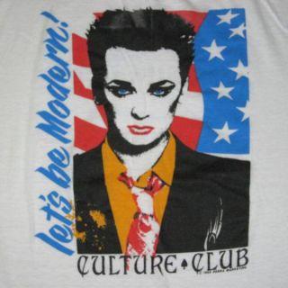 1985 Culture Club Vintage Tour T Shirt Boy George 80s