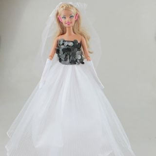 Fashion Party Wedding Dress Clothes Handmade Dresses for Barbie Doll