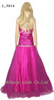 Prom Dresses Party Evening Bridesmaid Bridal Sequins Wedding