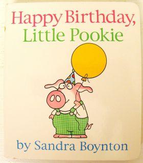 Birthday Little Pookie Board Book Toddler Baby Sandra Boynton