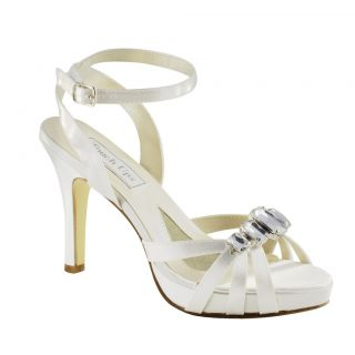 UPS Shoes Dolly in White Bridal Evening Prom High Heel Shoes