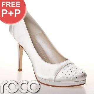 Club Shoes Designer Ivory Wedding Bridesmaid Prom Bridal Shoes