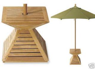 Grade A Teak Wood Umbrella Stand Cover Umbrella Base Outdoor Garden