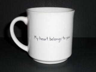 Sandra Boynton My Heart Belongs to You Mug Cup Coffee Tea Cat Kitty
