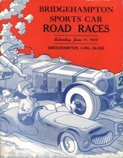 1949 Bridgehampton Sports Car Race Program Long Island