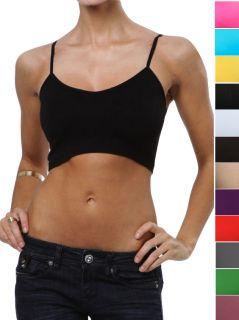 Select Your Sports Bra Cami Bralette Tank Top Spaghetti Strap Camisole
