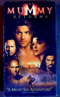 The Mummy Returns VHS 2001 Brendan Fraser 096898674133