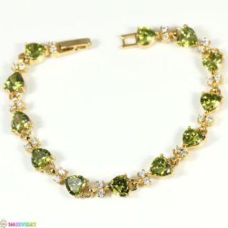 Superduper Green Peridot Silver 168JEWELRY Bracelet B695