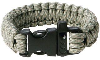 550 Paracord Survival Bracelet Cobra Braid Military Tactical Buckle w
