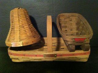 Longaberger 1982 1983 1984 Christmas Xmas 3 Basket Set