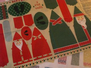 Christmas Santa Claus Sinterklass St. Nicholas Doll Fabric Craft Panel