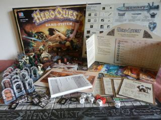 Heroquest Game System 100 Complete 1990 Milton Bradley