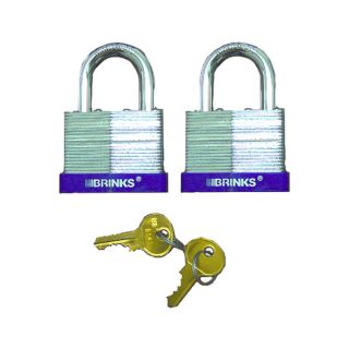 Brinks 142 50201 High Security Steel 2 Padlock 2 Pack