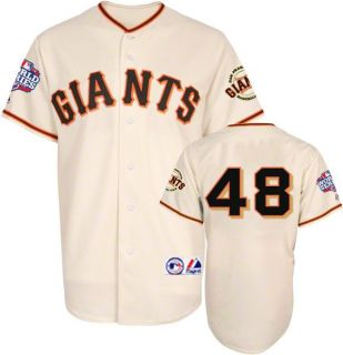 Pablo Sandoval 2012 San Francisco Giants World Series Home Jersey Sz M