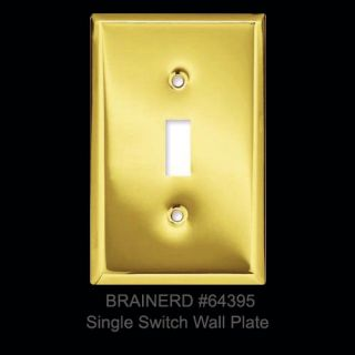 Brainerd Polished Brass Single Light Switch Wall Plate Wallplate Cover