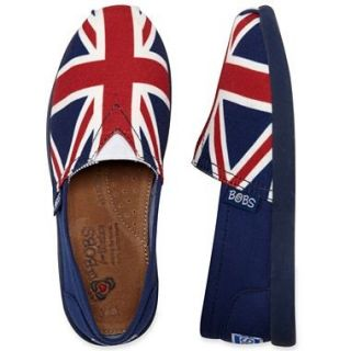 Skechers Lil Bobs British Flag Girls Shoes Multiple Sizes 1 13 Fast