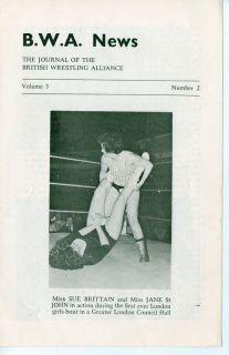 British Wrestling News Sue Brittain Jane St John