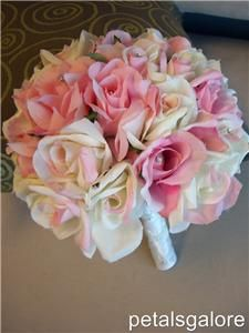 ALL Roses PINK ROSES & BLUSH ROSES Bridal Bouquet