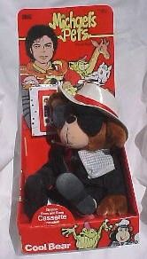 Michaels Pets Cool Bear Michael Jackson 1987 Ideal Toys