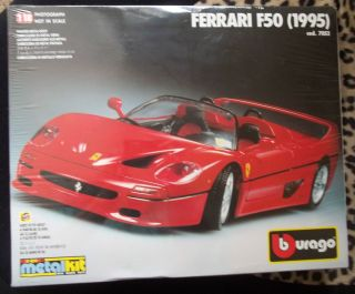 Vtg Burago Bburago 1 18 Ferrari F50 1995 Metal Model Kit 7052