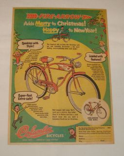 1956 Columbia Fire Arrow Bicycle Christmas Ad