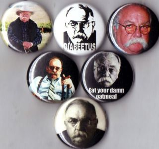 Wilford Brimley 6 Pins Buttons Badges Diabeetus New