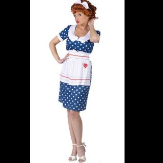Adult I Love Lucy Lucille Ball Costume Medium Large 10 14