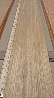 Freijo Brazilian Teak Wood Veneer 7 x 115 with No Backing Raw Veneer