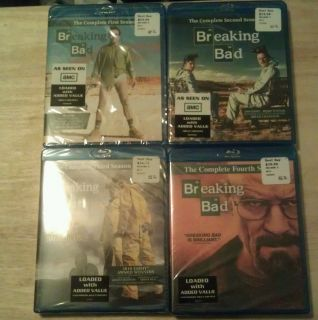 BREAKING BAD THE COMPLETE FIRST SECOND THIRD FOURTH SEASON BLU RAY 1 2