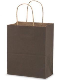 CHOCOLATE BROWN Kraft CUB Paper Gift Handle Bags 8x4 5x10 25