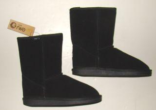 Emu Australia Black Merino Wool Bronte Lo Boot Size 7